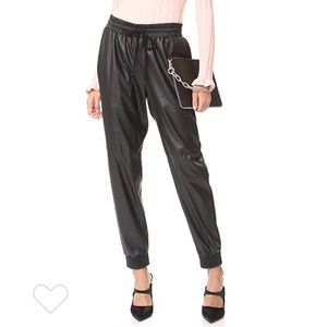 Rebecca Taylor Vegan Leather Track Pant